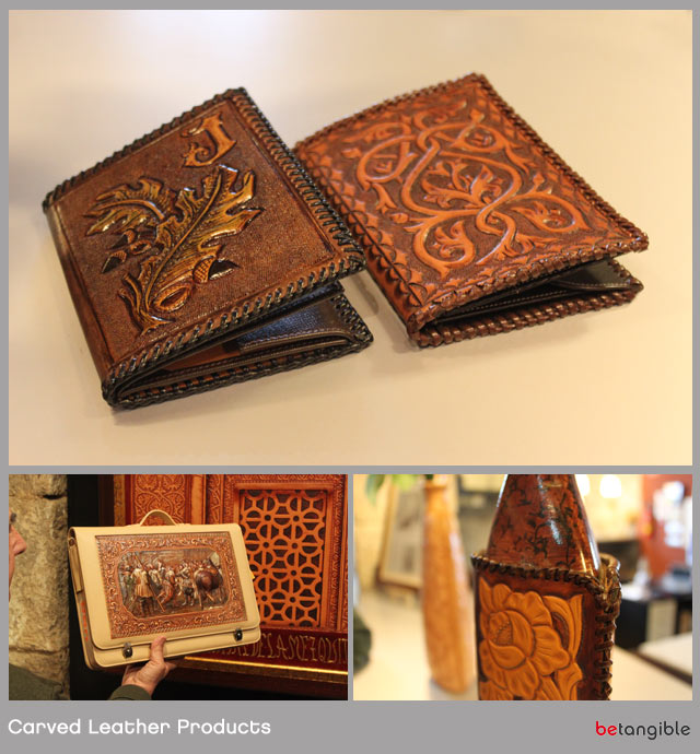 luis dominguez rojas spanish carved leather products Leather Carving… Handmade Pieces of Artwork