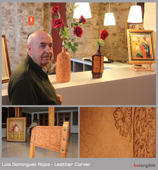 luis dominguez rojas spanish leather carver Leather Carving… Handmade Pieces of Artwork