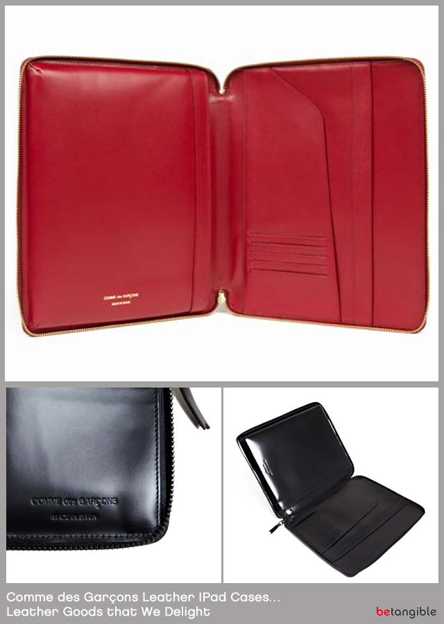 comme des garcons ipad cases leather goods Comme des Garçons Leather IPad Cases… Leather Goods that We Delight