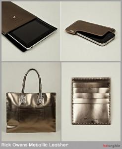rick owens metallic leather