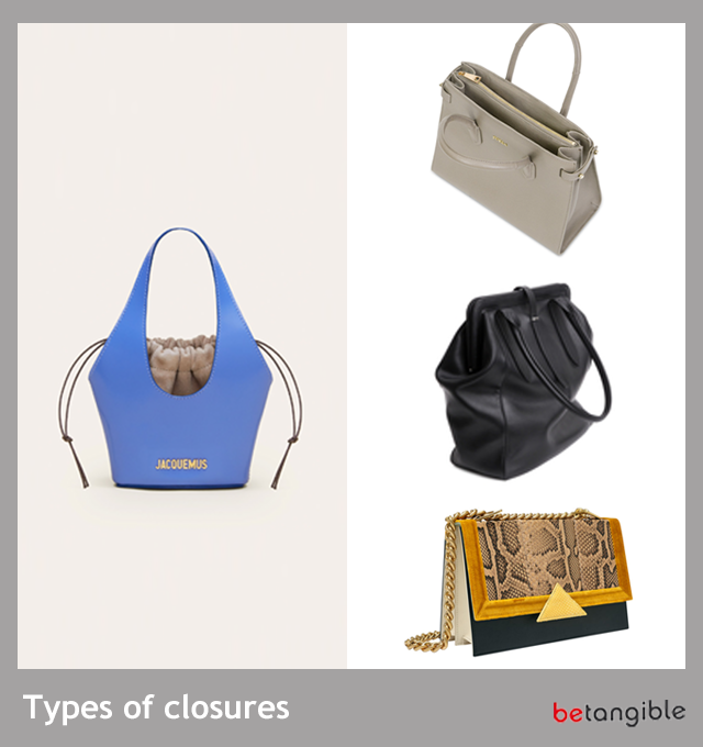 Types of Closures used by Spanish leather Goods Manufacturers