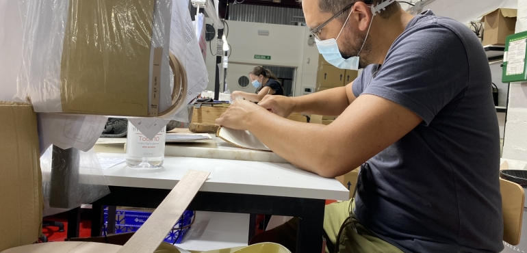 What's going on today at Betangible? - Finishing production